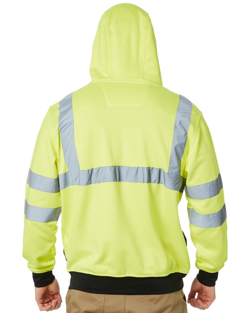 Hi Vis Full Zip Sweatshirt - Yellow