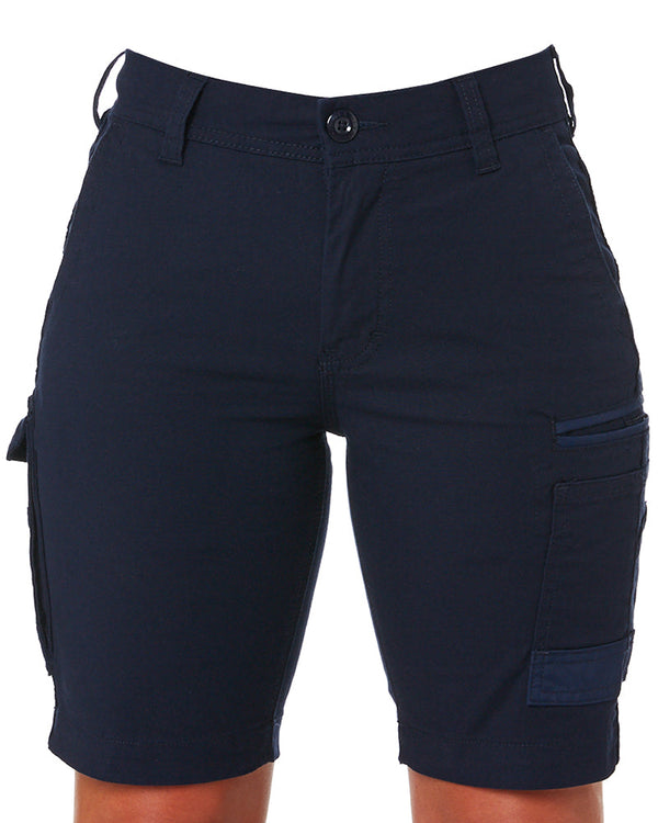 WS-3W Ladies Stretch Work Shorts - Navy