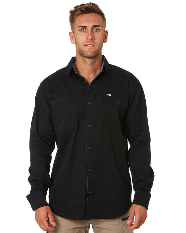 LSH-1 Stretch Work Shirt LS - Black
