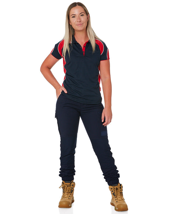 WP-4W Ladies Stretch Cuffed Work Pants - Navy