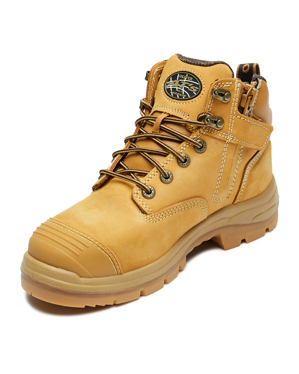 AT 55-330Z Hiker Safety Boot with Zip  - Wheat