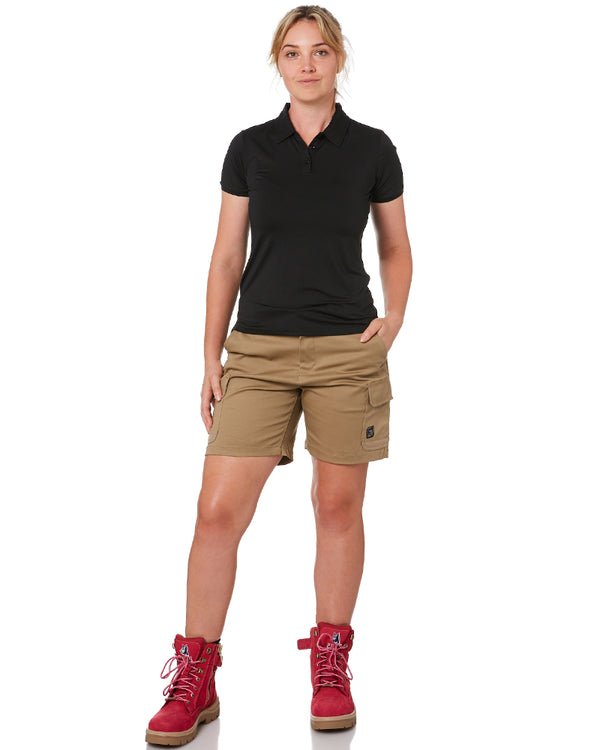 Ladies Staple Cargo Shorts - Khaki