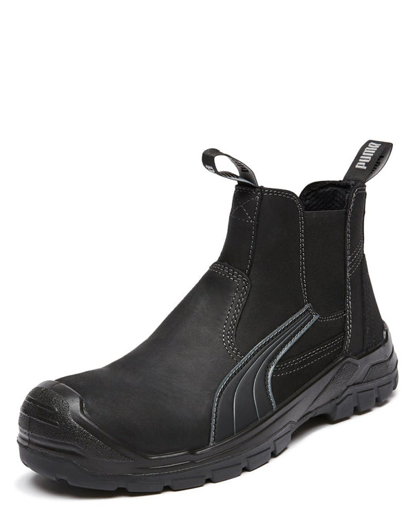 Scuff Cap Elastic Sided Boot - Black