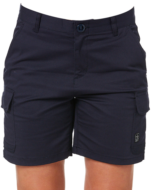 Ladies Staple Cargo Shorts - Navy