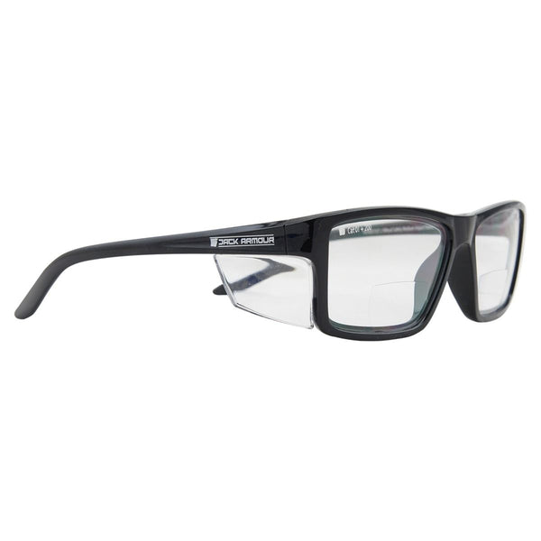 Pacific Bifocal Safety Glasses +2.50 - Black