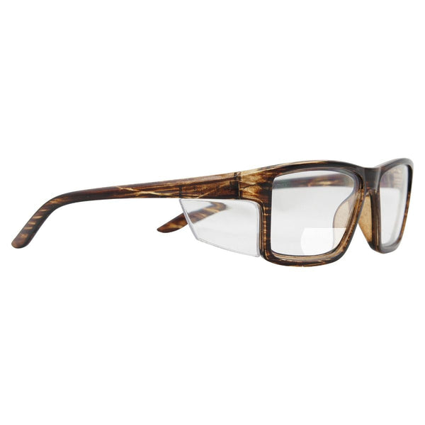 Pacific Bifocal Safety Glasses +1.50 - Brown