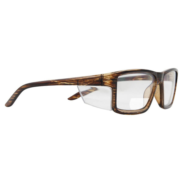 Pacific Bifocal Safety Glasses +2.50 - Brown