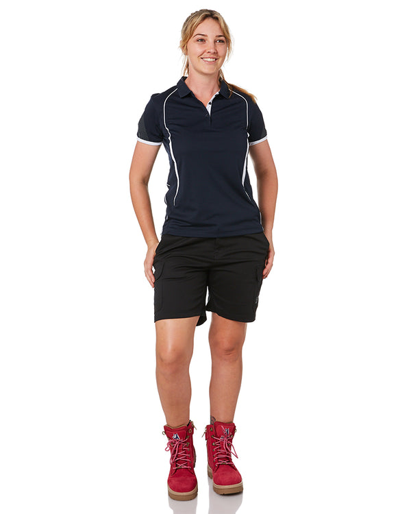 Ladies Staple Cargo Shorts - Black