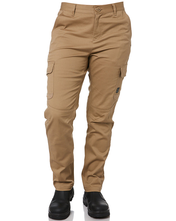 Ladies Staple Cargo Pants - Khaki
