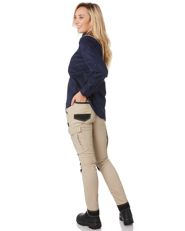 Womens Flex & Move Cargo Pants - Stone