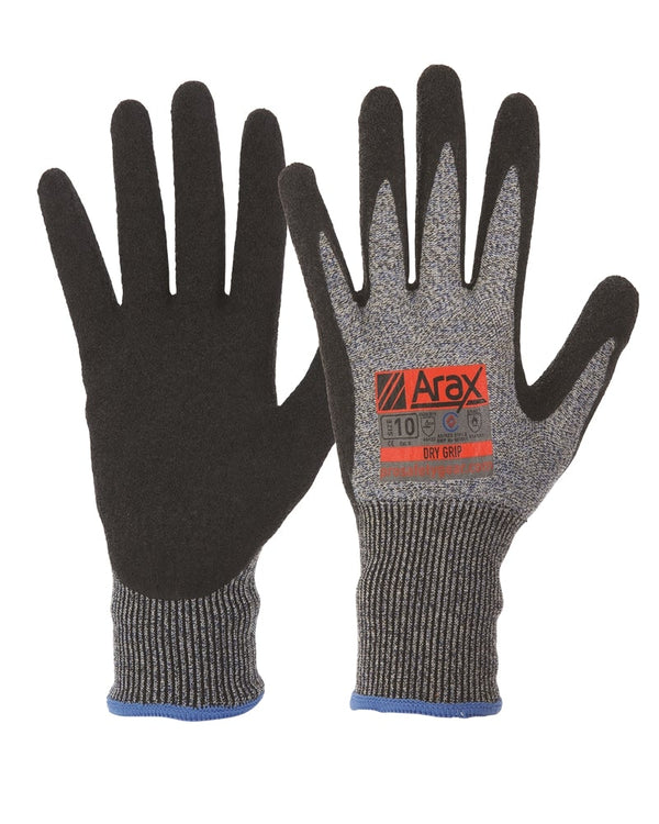 Arax Dry Grip Glove - Black/Grey
