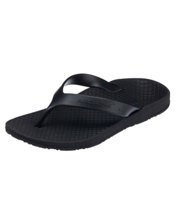 Balance Orthotic Flip Flops - Black