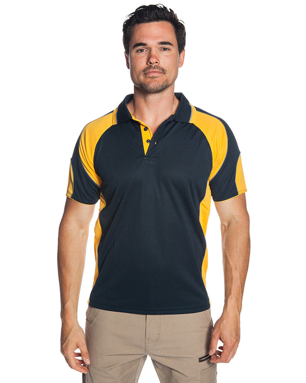 Murray Polo - Navy/Gold