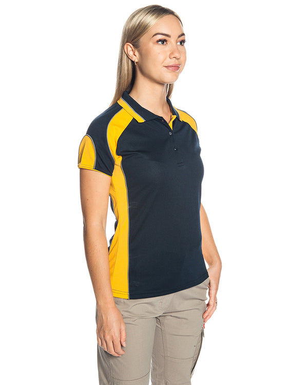 Murray Ladies Polo - Navy/Gold