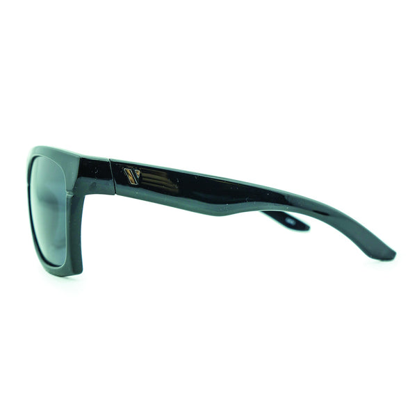Base Camp Polarised Sunglasses - Black/Smoke
