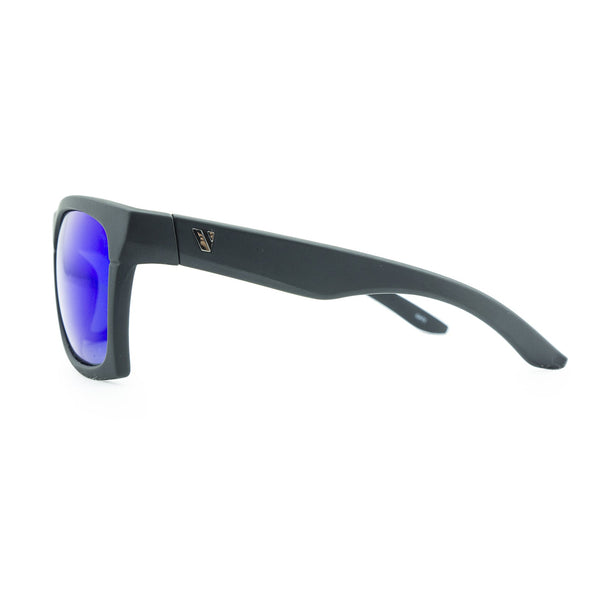Base Camp Polarised Sunglasses - Matt Black/Blue Revo