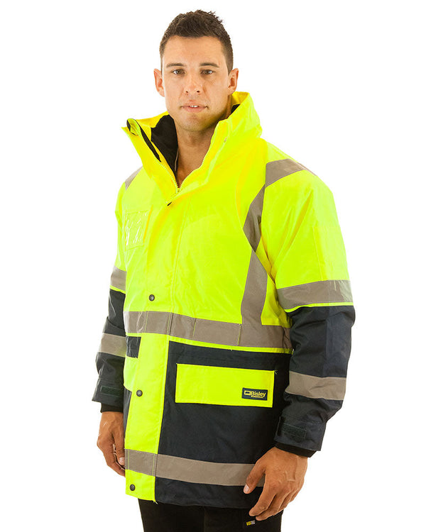 5 in 1 Rain Jacket - Yellow/Navy