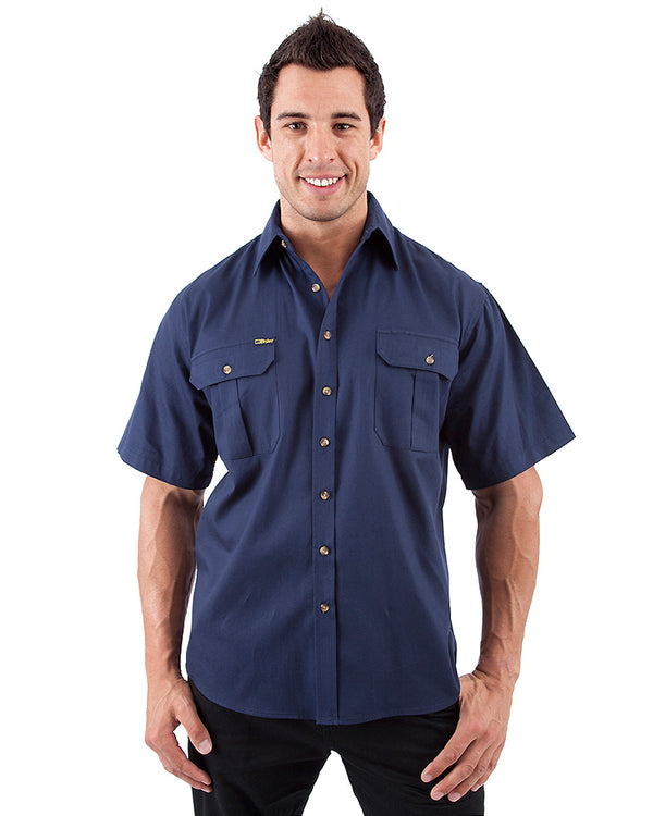 Original Cotton Drill SS Shirt - Navy