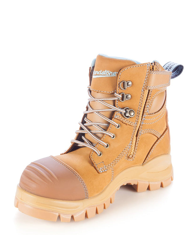 Style 892 Zip Side Safety Boot - Wheat