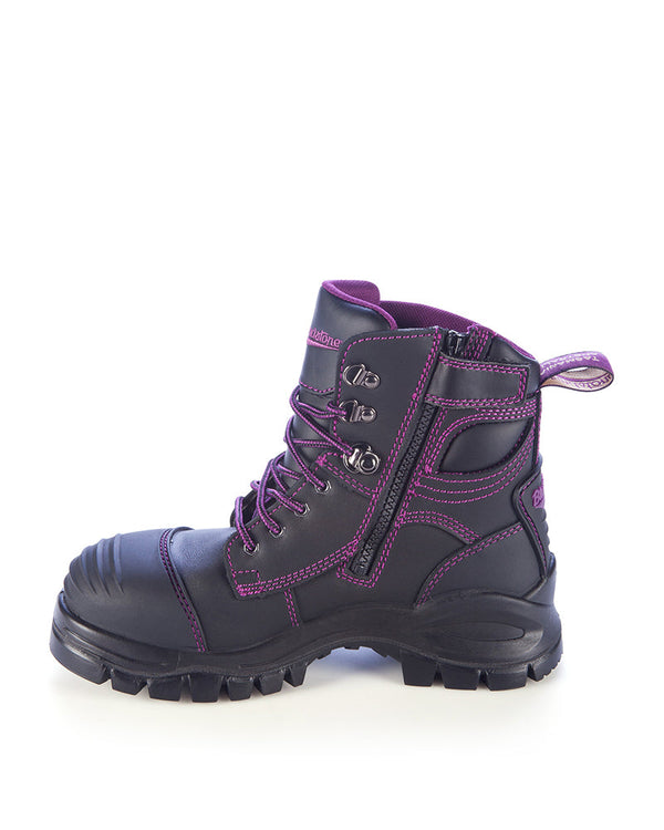 Style 897 Zip Side Safety Boot - Black