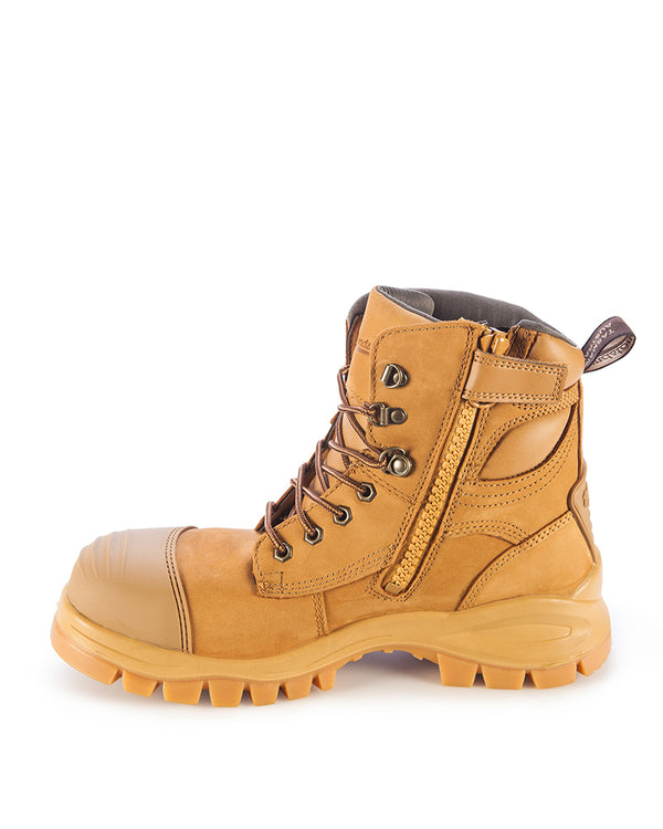 Style 992 Lace Up Zip Side Boot - Wheat