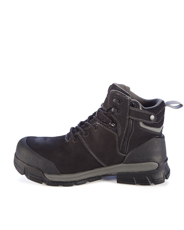 Pillar Zipper CT Waterproof Safety Boot - Black