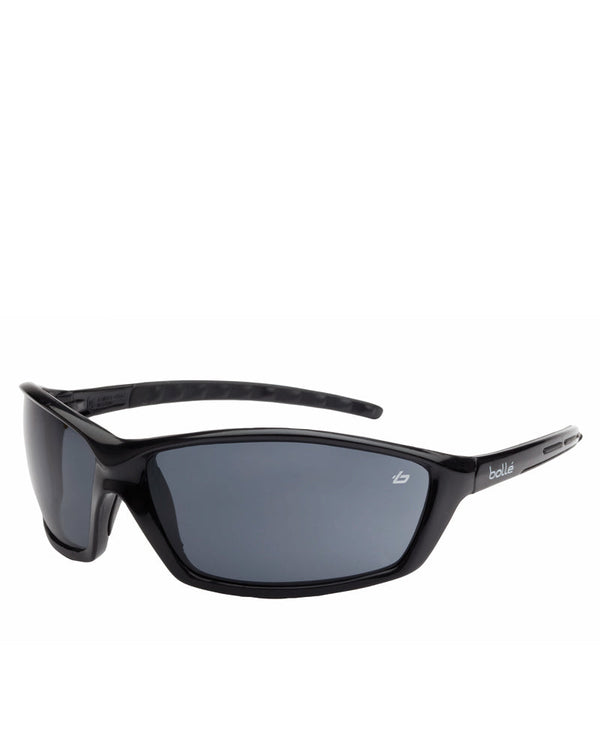 Prowler Safety Glasses Black Smoke Lens - Smoke