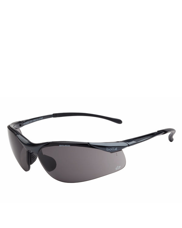 Contour (Sidewinder) Polarised Safety Glasses Grey Lens - Grey
