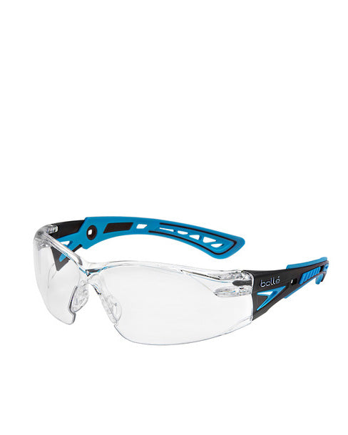 Rush Plus Small Safety Glasses Clear Lens - Clear