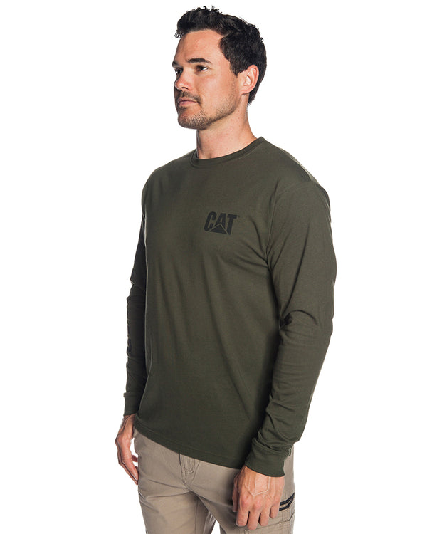 Trademark Banner LS Tee - Army Moss