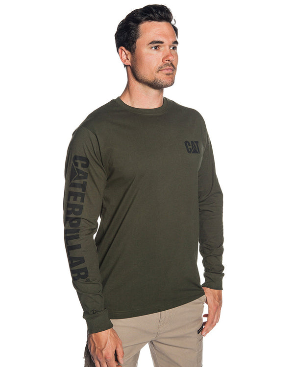 Trademark Banner Tee - Army Moss