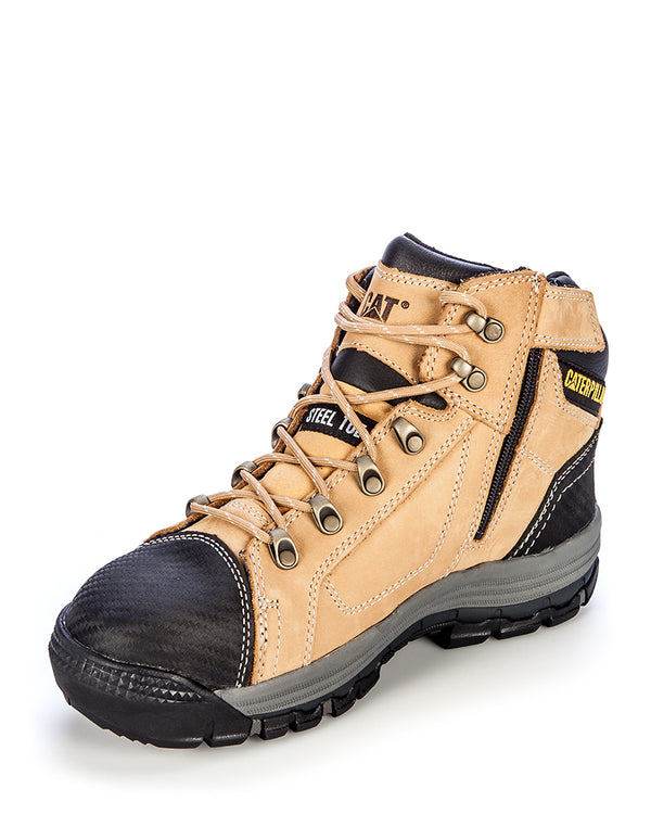 Convex Mid 720053 Zip Side Safety Boot - Honey
