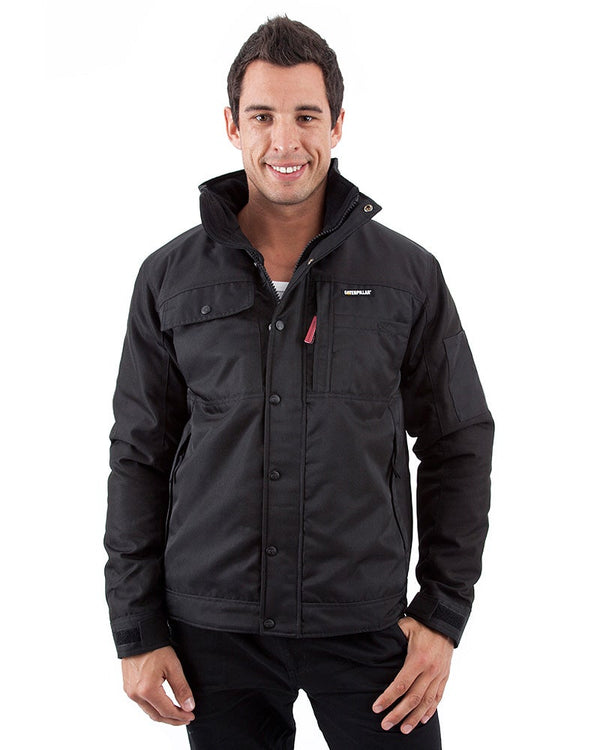 Insulated Twill Jacket - Black