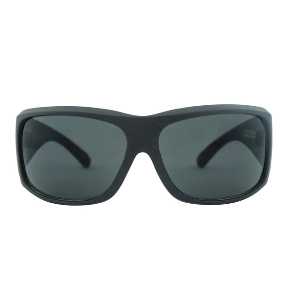 Caution Safety Sunglasses - Matt Black/Smoke