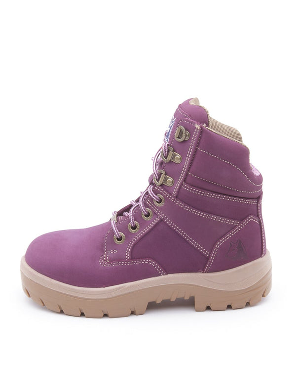 Southern Cross Lace Up Ankle Boot - Purple