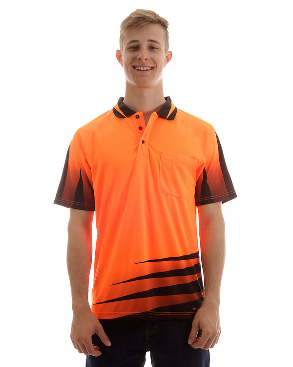 Hi Vis Rippa Sub Polo Shirt - Orange/Black