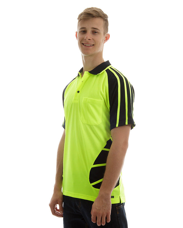 Hi Vis Spider Short Sleeve Shirt - Lime/Navy