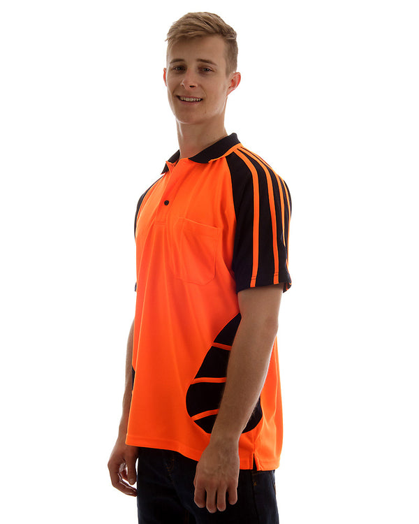 Hi Vis Spider Short Sleeve Shirt - Orange/Black