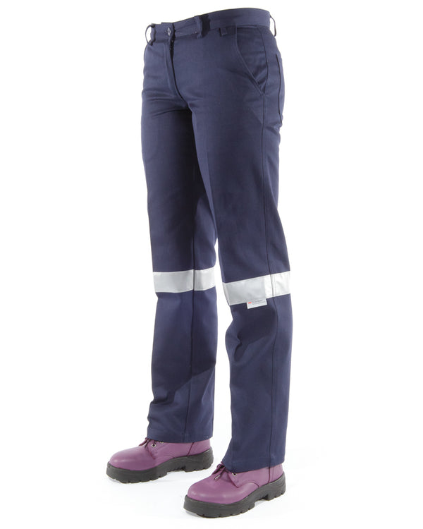 Womens Work Pant 3M Reflective Tape (2 Pack) - Navy