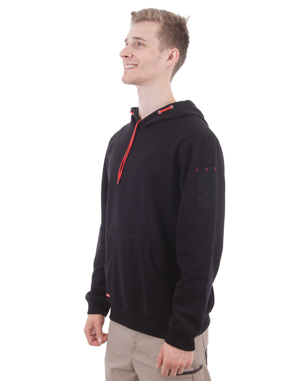 Brushed Fleece Hoodie - Black