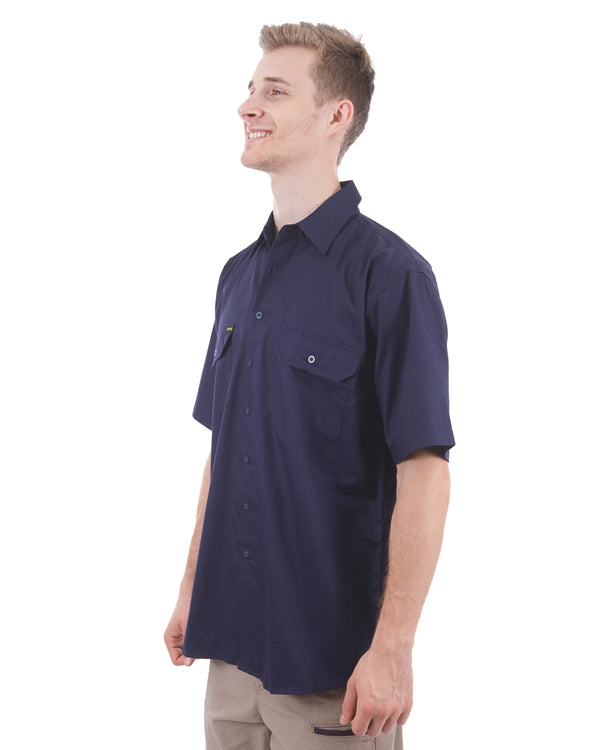 Cool Lightweight Drill Shirt SS - Navy
