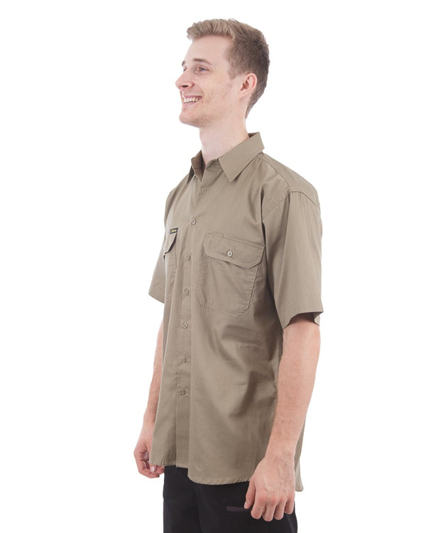 Cool Lightweight Drill Shirt SS - Khaki