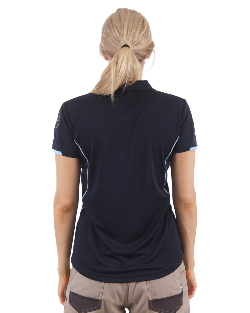 Razor Ladies Polo - Navy/Sky