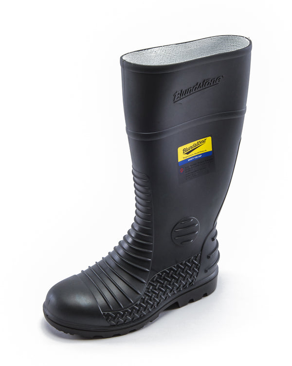 Style 025 Waterproof Safety Gumboots - Grey