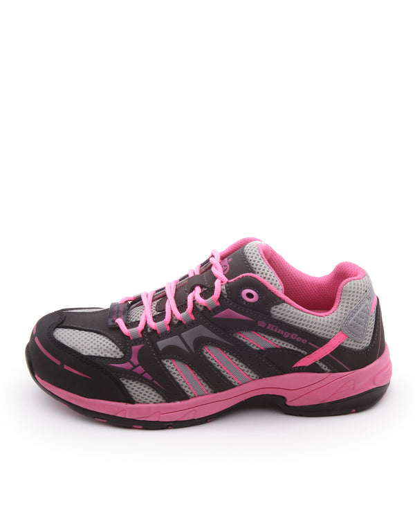 Comptec Womens Safety Jogger Black Pink - Pink/Black