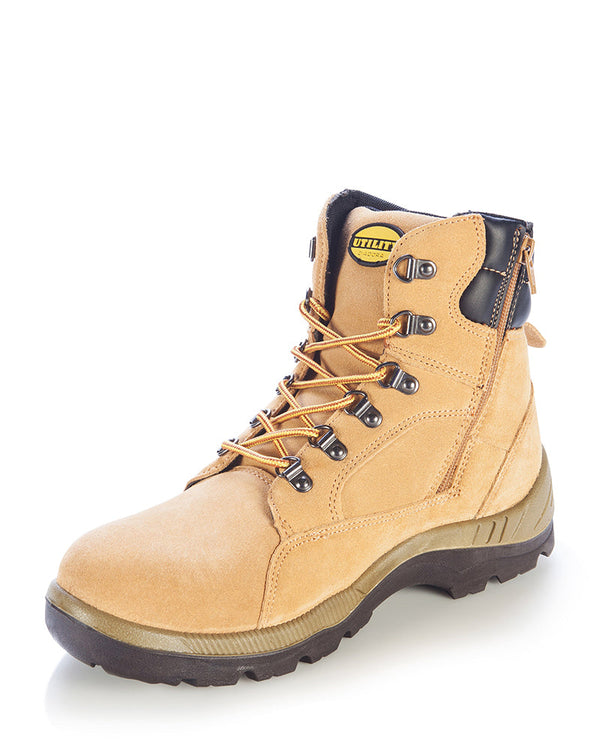 Asolo Zip Side Safety Boot - Wheat