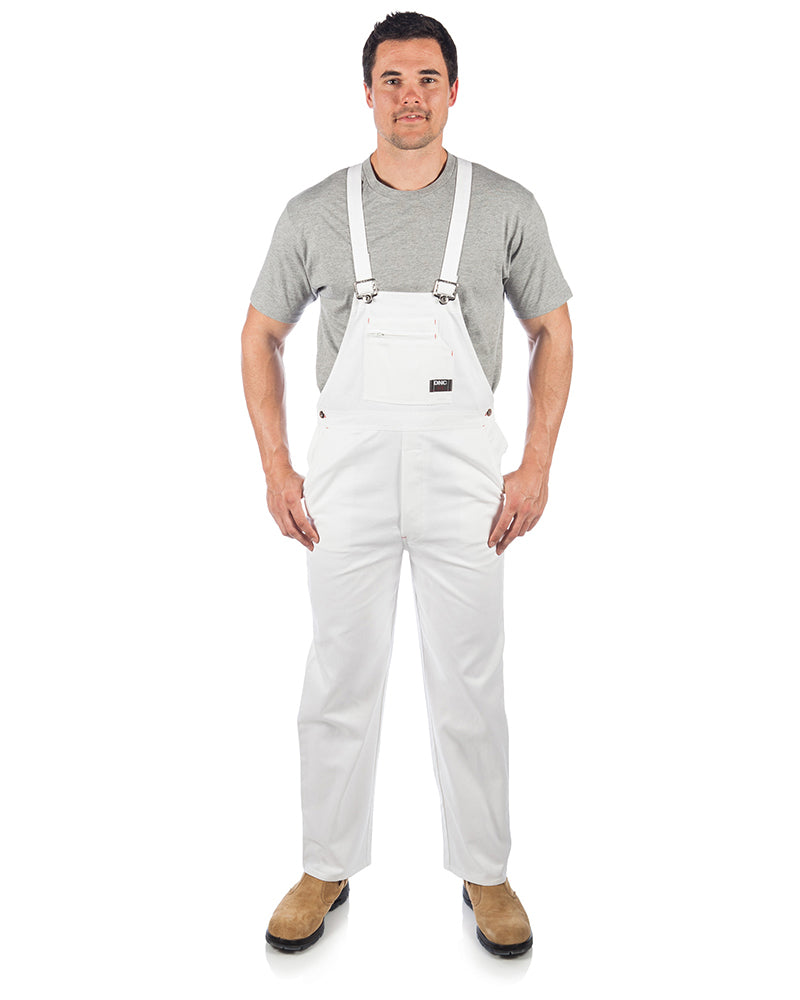 Cotton Drill Bib And Brace Overall - White