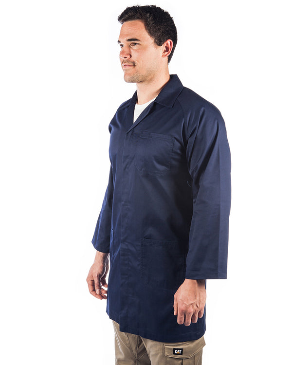 Polyester cotton dust coat (Lab Coat) - Navy
