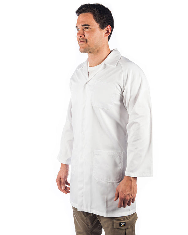 Polyester cotton dust coat (Lab Coat) - White