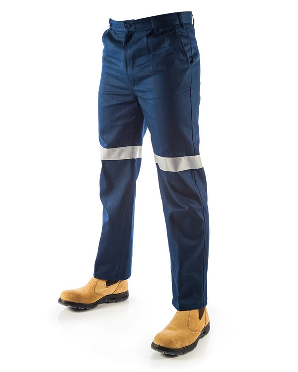 Cotton Drill Pants With 3M R/Tape - Navy